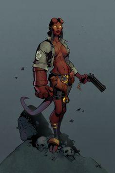 Hellgirl Coloured by CMGfx.deviantart.com on @deviantART