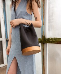 Bucket Wood Bag by GRAV GRAV