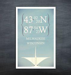 Milwaukee Coordinates  MAM Poster Print