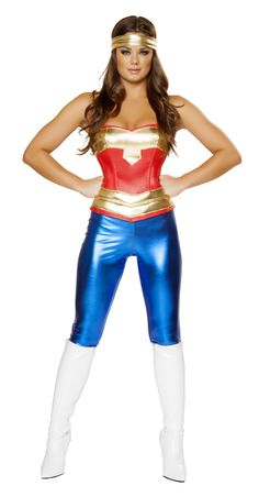 Comic Cutie Women Super Hero Costume, RM4376, Halloween Costumes Comic Cutie Women Super Hero Costume - Costumes by The Costume Land - Buy Costumes Online