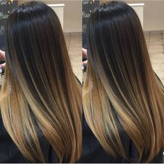 ✨Brunette and Blonde ✨Painted Hair✨ blends❤✨. I love seeing all the different tones each individual head of hair pulls to! Ombre Hair Color, Hair Color Balayage, Hair Highlights, Bayalage, Balayage Brunette, Brunette Hair, Brown Blonde Hair, Dark Hair, Hair Painting