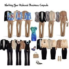 Working your capsule: business casual for women - Yahoo! Search Results / not necessarily the colors, but the concept: