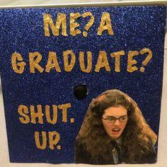 41 Ways to Customize Your Graduation Cap Stand out in the crowd. Funny Graduation Caps, Graduation Cap Designs, Graduation Cap Decoration, High School Graduation, Graduation Photos, College Graduation, Graduation Ideas, Decorated Graduation Caps, Funny Grad Cap Ideas
