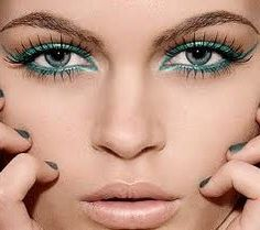 Fun turquoise eye makeup