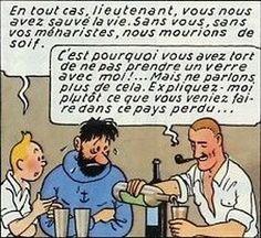 Les remerciements de Tintin