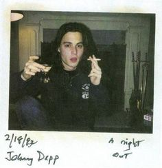 If this is in '83, then it's 4 years before 21 Jump Street begins... Making this a picture of Johnny Depp at 19.