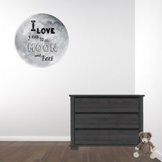 Muursticker Maan tekst I Love you to the moon and back