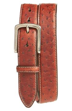 Torino Belts South African Ostrich Leather Belt