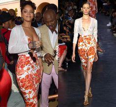 Rihanna Attends the 2015 Roc Nation Pre-Grammy Brunch in Altuzarra