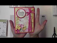 Note Card Gift Box with Stampin' Up! Fresh Fruit - YouTube