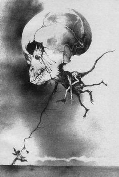 Scary Stories 3: More Tales to Chill Your Bones... it's the art for the short story Is something wrong?. Illustrator :  Brett Helquist