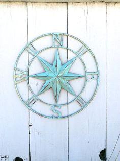 Nautical Compass Wall Art, Nautical Decor, Nautical Wall Art, Nautical Decor,  Metal Compass Decor, Metal Wall Compass, Nautical Wall Art