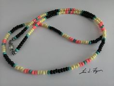 Jim Morrison Modern Vintage 67 Cobra Necklace/Young Lion photo shoot necklace/Hippie Jewelry/Hippie necklace/rock n roll/rock music jewelry Snake Necklace, Seed Bead Necklace, Diy Necklace, Necklace Designs, Seed Beads, Choker Necklaces, Necklace Ideas, Jewelry Ideas, Diy Jewelry