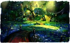 One of the most amazing artists I know of - Aymrc - concept artist for Rayman