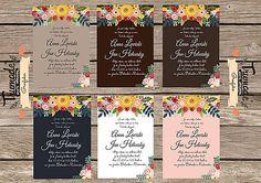 Folk flower svadobné oznámenia - Sada