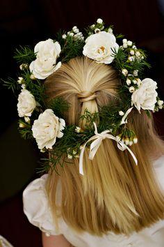 flower girl halo|calder clark designs|banner photography