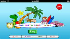 Fun With Directions by Hamaguchi Apps for Speech, Language & Auditory Development
