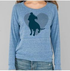 Pit Bull Heart Eco Royal Ladies' Slouchy Pullover, Dog Park Publishing