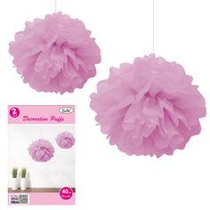 Pink 40cm Tissue Pom Pom Decorations (Set of 2)