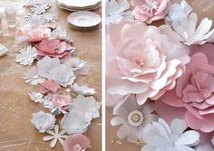Fleurs en papier extras faites maisons