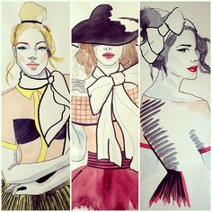 Old fashion illustrations #illustration#fashionillustration#illustrate#illustrateyourworld#instafollow#artcollective#watercolor#artworkunleashed#artsy#art#dessin#follow#instagood