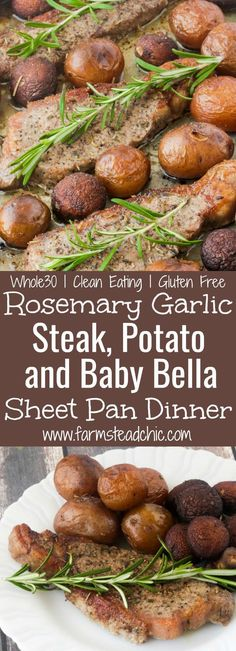 This Whole30 Steak and Potatoes Sheet Pan Dinner is the perfect meal for a busy weeknight or when you don't want to spend an hour in the kitchen. Rosemary and garlic highlight the flavor of the steak and veggies without overpowering them. This meal is so