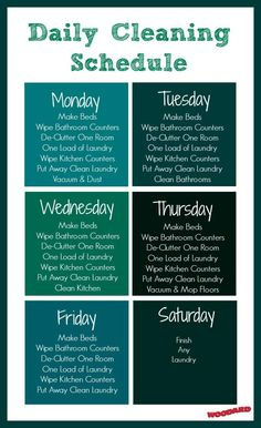 Does your home have a cleaning schedule? Use this template for inspiration to create a weekly cleaning schedule!
