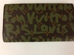 Louis Vuitton Limited Edition Khaki Graffiti Wallet by Steven Sprouse - Tradesy