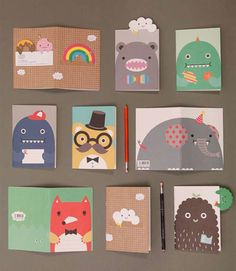 Noodoll cards and bookmarks
