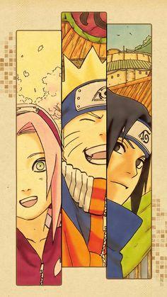 Team 7 - Sakura, Sasuke and Naruto Naruto Shippuden Sasuke, Naruto Kakashi, Anime Naruto, Naruto Team 7, Art Naruto, Wallpaper Naruto Shippuden, Naruto Sasuke Sakura, Boruto, Naruto And Sasuke Wallpaper