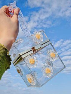 Resin Crafts, Resin Art, Clutch Purse, Crossbody Bag, Tote Bag, Coin Purse, Clear Handbags, Transparent Bag, Acrylic Flowers