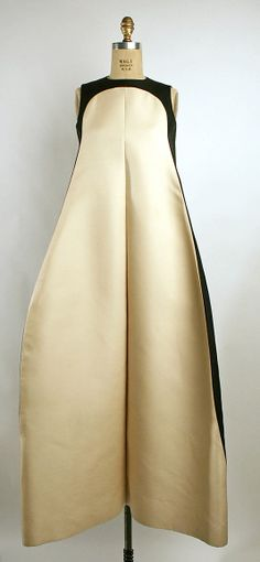 Evening dress Date: 1968 Culture: French Medium: silk