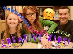 Creative Kids! Thursday Weekly Craft! Handprint Family Canvas! - YouTube