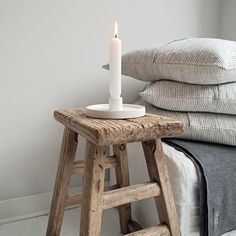 Wooden Stools, White Candles, Love Home, Wabi Sabi, The Hamptons, Beautiful Homes, Interior Decorating, Design Inspiration, Bedroom