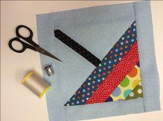 April Showers Umbrella quilt block