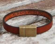 Hidden Secret Message Bracelet Mens Personalized by BeGenuine