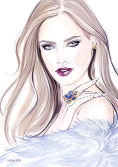 ACCESSORIES « Lena Ker   fashion illustration