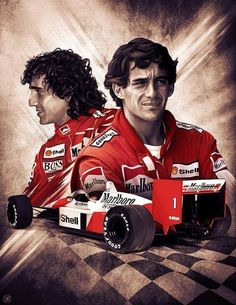 illustration of Senna and Prost by Youssef Habchi