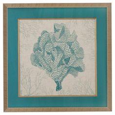 Bassett Mirror Coral Motif IV Wall Art - 9900-390EEC