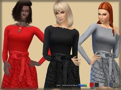 Dress Quilted Skirt at Bukovka • Sims 4 Updates