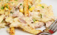 Crunchy tuna pasta bake via MyFamily.kiwi