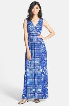 Maggy London Print Matte Jersey Maxi Dress available at #Nordstrom