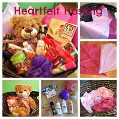 Hospital Gift Basket - Ideas for making a gift basket for a friend or family member staying in the hospital. Hospital Gift Baskets, Hospital Gifts, Diy Gift Baskets, Dorm Gifts, Baby Gifts, Boyfriend Gift Basket, Boyfriend Gifts, Orange Gift Basket, Care Package Decorating