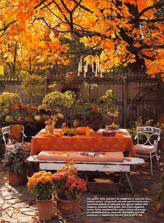 Red Door Home: Beautiful fall table Fall Table, Fall Harvest, Autumn Inspiration, Fall Season, Outdoor Dining, Autumn Leaves, Autumn Tea, Autumn Garden, Autumn House