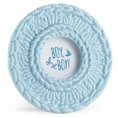 Boy Oh Boy Blue Crochet Picture Frame,