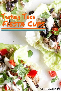 The perfect healthy addition to your Cindo De Mayo Fiesta! These turkey tacos are low carb, packed with protein and full of southwestern flavors.