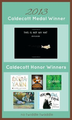 Have you read the best picture books from 2012 yet? Pin this and check out these 2013 Caldecott Winners from your local library.