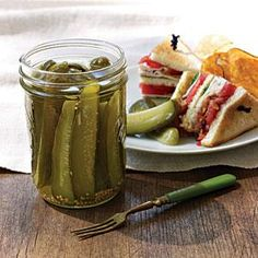 These classic spears are crisp, sour, and a sandwich's best friend. Like most pickles, they'll reach their best flavor and texture after three weeks in the jars.