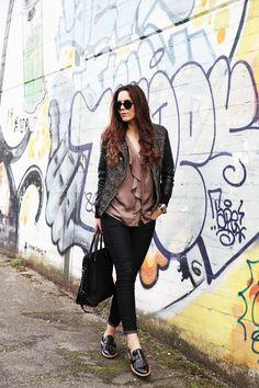 Mocassini borchiati per un sushi weekend - Irenes Closet - Fashion blogger outfit e streetstyle