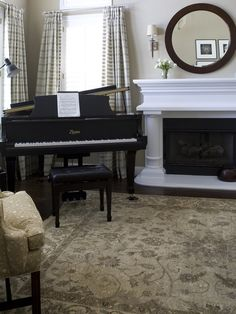 Decorating Around Baby Grand Piano Small Living